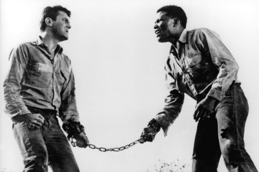 The Defiant Ones (1958), dir. Stanley Kramer, starring Tony Curtis and Sidney Poitier (Photo credit:  movingimagesource.us)