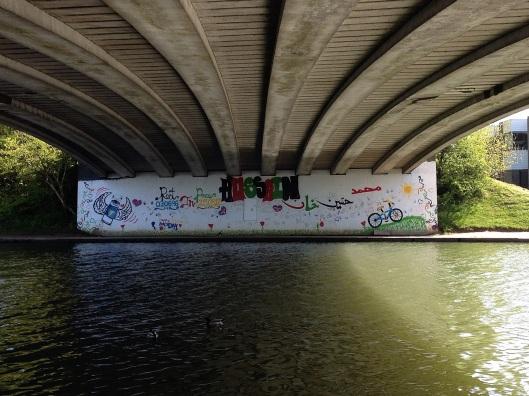 Donnington Bridge - Hussain Mohammed memorial (Photo credit - johnfield1)