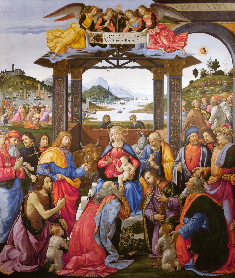 Ghirlandaio, Adoration of the Magi, 1485 - 88 (Photo credit: Wikipedia)