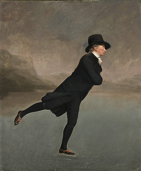 Henry, Raeburn, The Reverend Robert Walker Skating on Duddingston Loch, 1790s (Photo credit: public domain)