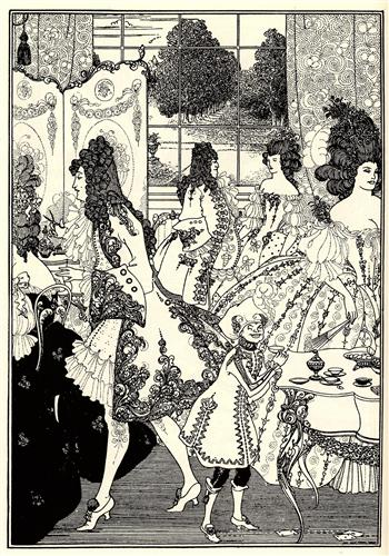 Aubrey Beardsley, illustration for The Rape of the Lock (photo credit: wikiart)