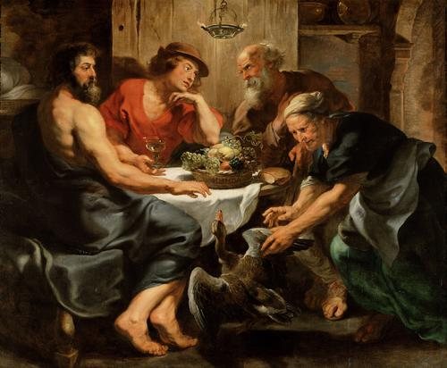 Jupiter and Mercurius in the house of Philemon and Baucis (photo credit: Wikipedia)