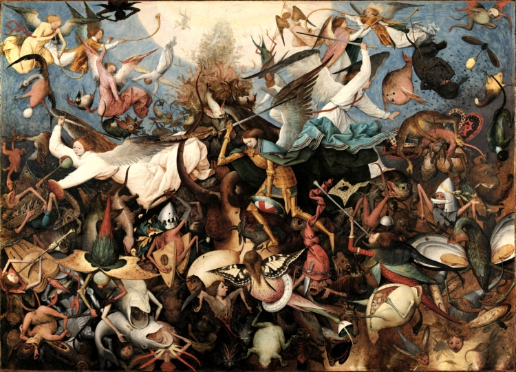 Pieter Bruegel the Elder - The Fall of the Rebel Angels, 1562 (photo credit: Wikipedia)
