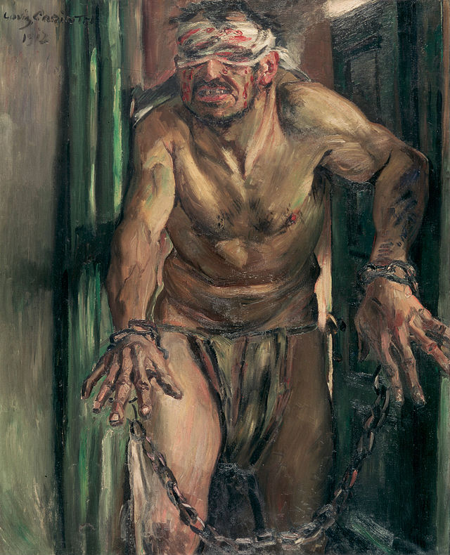 The Blinded Samson, Lovis Corinth, 1912 (photo credit: Wikipedia)