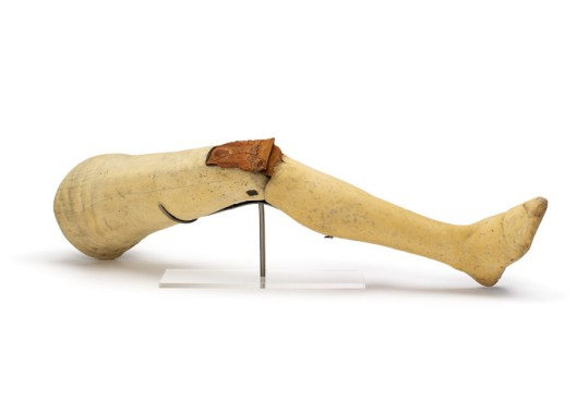 Artifical leg of Earl of Uxbridge (photo credit: Waterloo 200 - all rights reserved)
