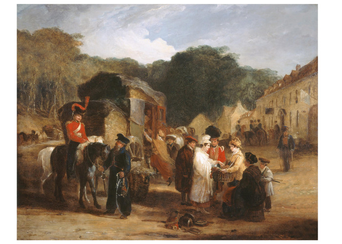 George Jones, The Village of Waterloo, 1821 (Photo credit: Waterloo 200 - all rights reserved)