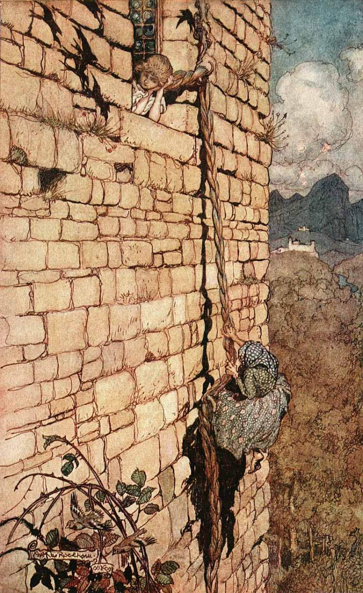 Arthur Rackham Rapunzel, 1909 (Photo credit: Wikipedia)