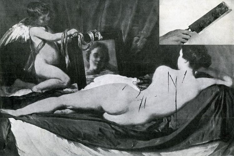 Vandalized Rokeby Venus 1914 (Photo credit: Wikipedia)